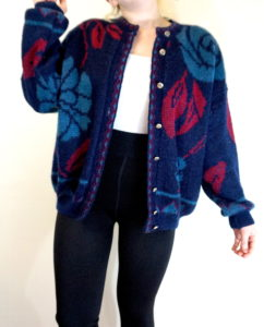Vintage Cardigan | My Winter Coat Collection 2016