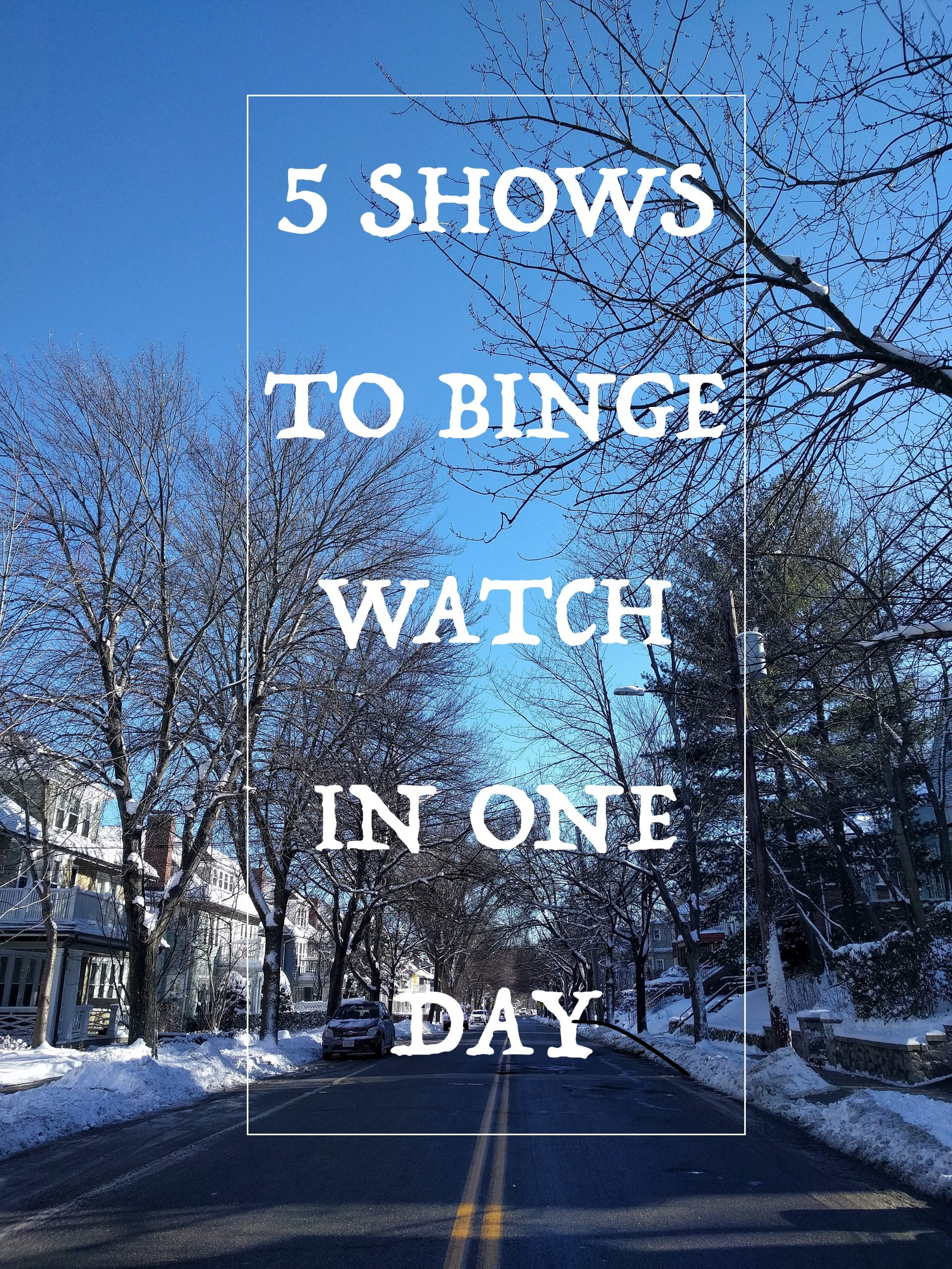 5 Shows to Binge Watch in One Day | Everything Obsessed